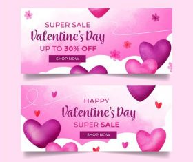 Design Valentines Day business promotion poster vector