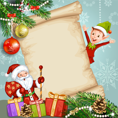 Design christmas card background vector