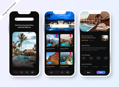 Design mobile app screen vector