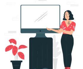 Different lifestyle cartoon illustration vector