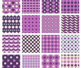 Different style geometric patterns vector