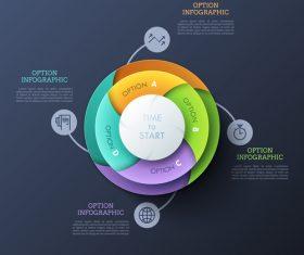 Disc business chart options vector