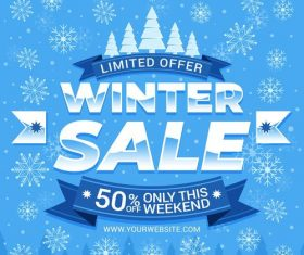 Discount winter sale vector