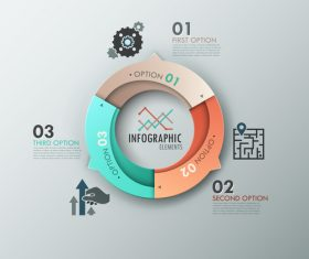 Double circle templates of Infographics vector