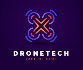 Dronetech logo design vector