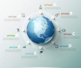 Earth templates of Infographics vector