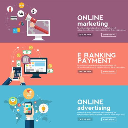 Ebanking payment banner vector