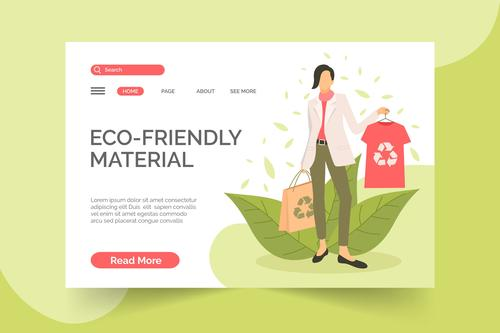 Eco friendly material illustration vector