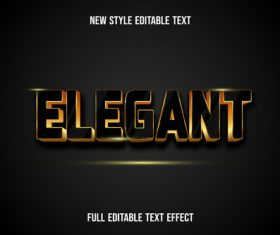 Elegant text style effect vector