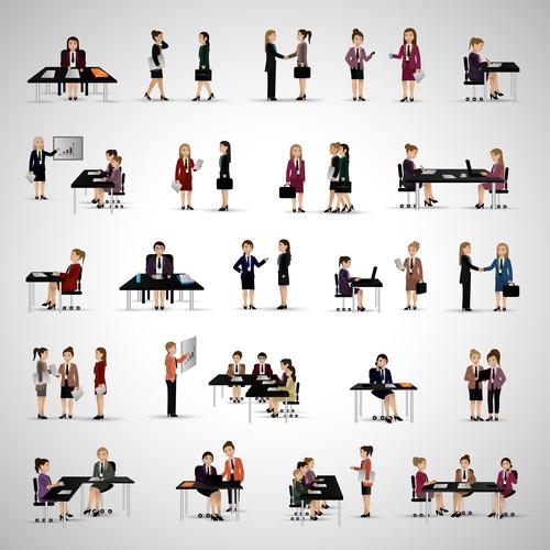 Employee behavior cartoon vector