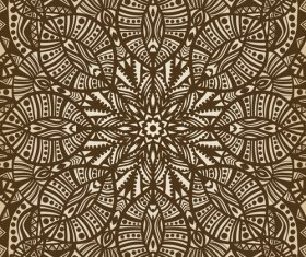 Engraved geometric pattern vector
