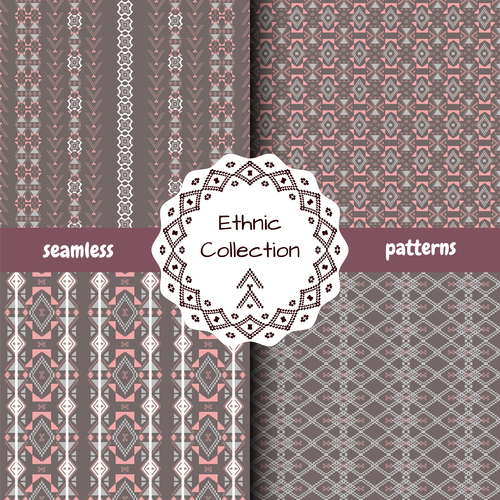 Ethnic collection seamless pattern vector