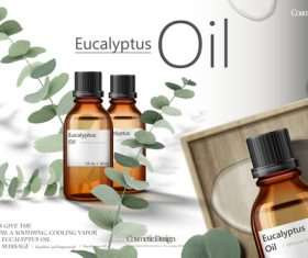 Eucalyptus oil advertising vector