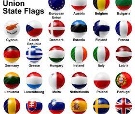 European union state flags vector
