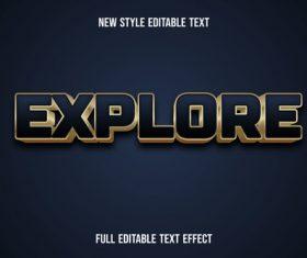 Explore new style editable text vector