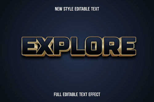 Explore new style editable text vector