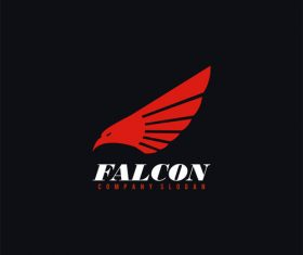Falcon logo design vector
