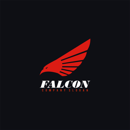 Falcon logo design vector