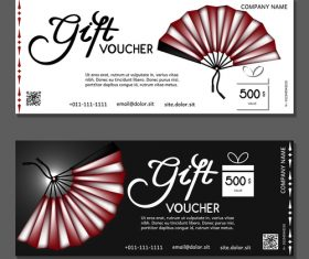 Fan background gift card voucher vector