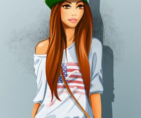 Fashion trend girl vector