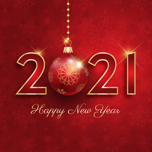 Festive 2021 new year greeting card vector