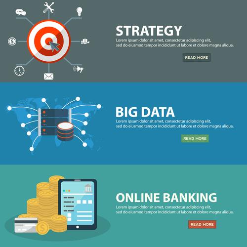 Financial information banner vector