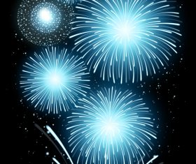 Fireworks light blue vector