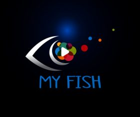 Fish logo design vector