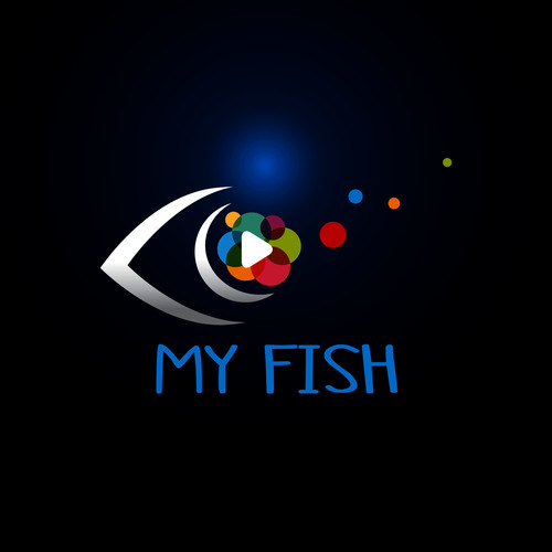 Fish logo design vector