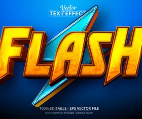 Flash 3d editable text style effect vector
