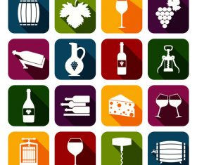 Flat icon wine vector