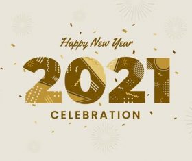 Flat new year 2021 background vector