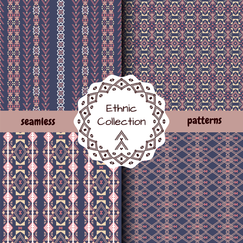 Floral rhombus ethnic seamless pattern vector