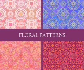 Flowers patterns geometric vector