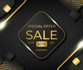 Flyer special offer sale vector