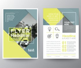 Flyer templates of brochures vector