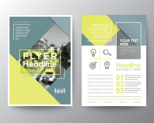 Flyer templates of brochures vector