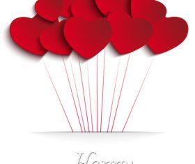 Flying heart vector
