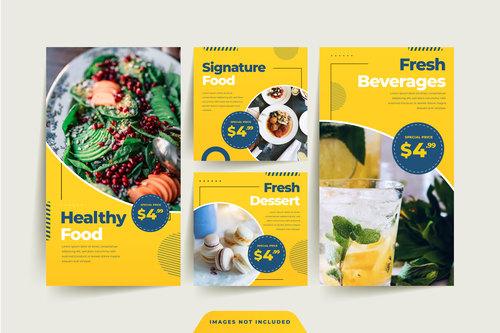 Fresh beverages food sale poster vector