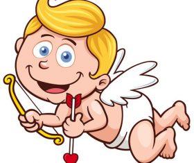 Funny cupid vector