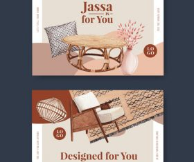 Furniture sale flyer vector