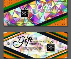 Geometric background gift card voucher vector
