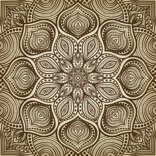 Geometric flower pattern vector