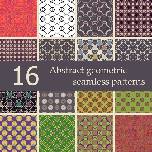 Geometric patterns abstract vector