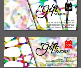 Gift card voucher vector