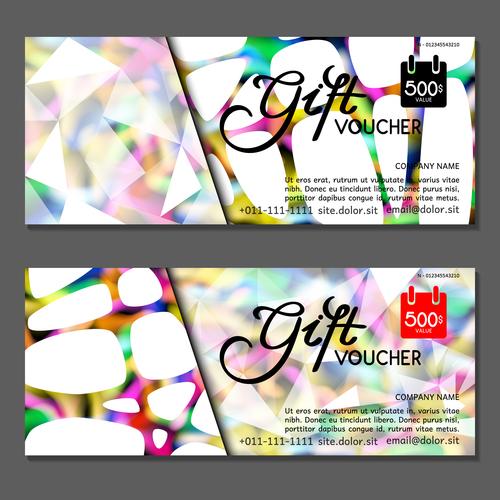 Gift card voucher vector