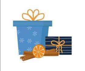 Gift sticker vector
