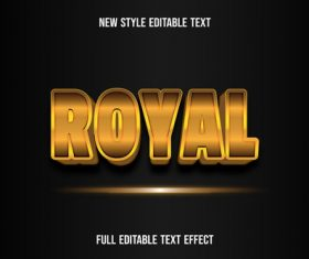 Gilding font new style editable text vector