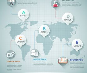 Global business templates of Infographics vector