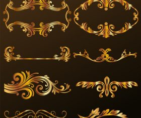 Gold Decorative Ornament vector